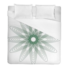 Spirograph Pattern Circle Design Duvet Cover (full/ Double Size)