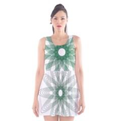 Spirograph Pattern Circle Design Scoop Neck Skater Dress