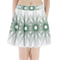 Spirograph Pattern Circle Design Pleated Mini Skirt