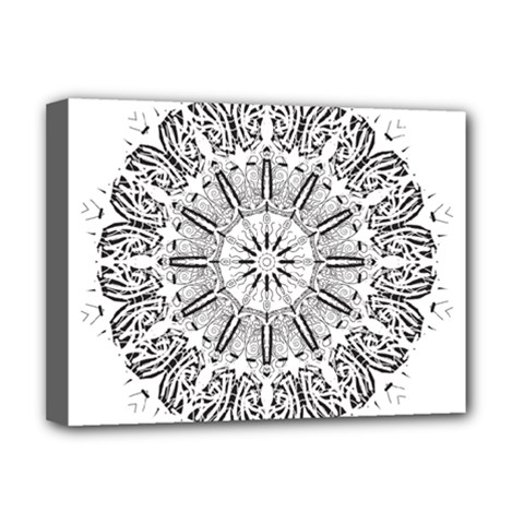 Art Coloring Flower Page Book Deluxe Canvas 16  X 12   by Nexatart