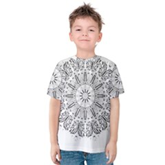 Art Coloring Flower Page Book Kids  Cotton Tee