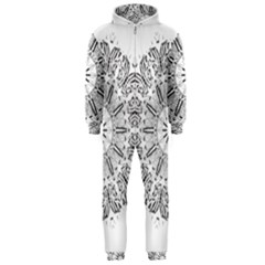Art Coloring Flower Page Book Hooded Jumpsuit (men)