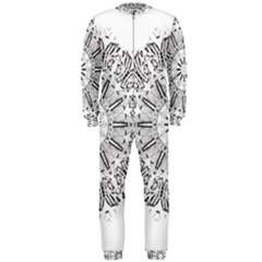 Art Coloring Flower Page Book Onepiece Jumpsuit (men)  by Nexatart