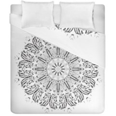 Art Coloring Flower Page Book Duvet Cover Double Side (california King Size)
