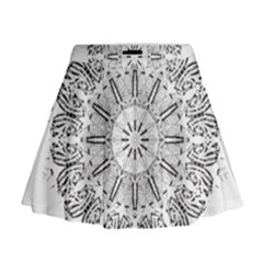 Art Coloring Flower Page Book Mini Flare Skirt