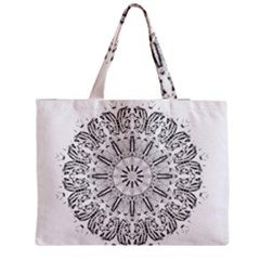Art Coloring Flower Page Book Medium Zipper Tote Bag by Nexatart