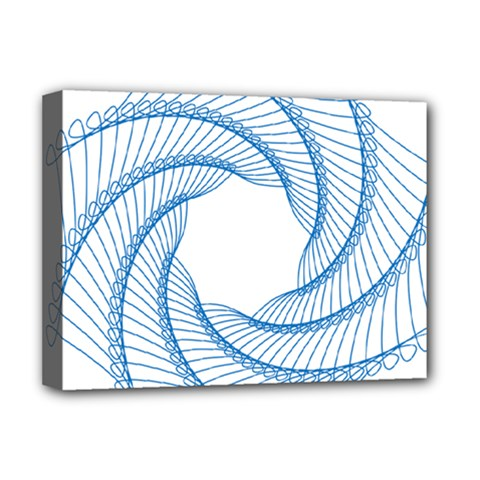 Spirograph Spiral Pattern Geometric Deluxe Canvas 16  X 12   by Nexatart
