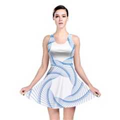 Spirograph Spiral Pattern Geometric Reversible Skater Dress