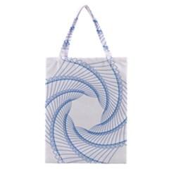 Spirograph Spiral Pattern Geometric Classic Tote Bag by Nexatart