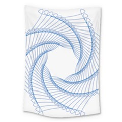 Spirograph Spiral Pattern Geometric Large Tapestry by Nexatart
