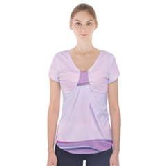 Background Image Greeting Card Heart Short Sleeve Front Detail Top