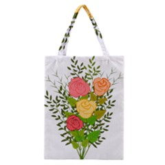 Roses Flowers Floral Flowery Classic Tote Bag by Nexatart