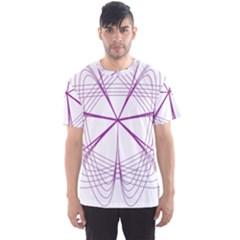 Purple Spirograph Pattern Circle Geometric Men s Sport Mesh Tee