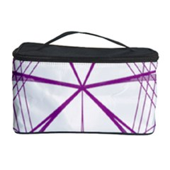 Purple Spirograph Pattern Circle Geometric Cosmetic Storage Case