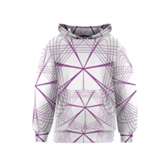 Purple Spirograph Pattern Circle Geometric Kids  Pullover Hoodie