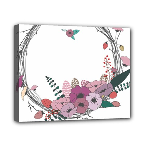 Flowers Twig Corolla Wreath Lease Canvas 10  X 8  by Nexatart