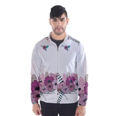 Flowers Twig Corolla Wreath Lease Wind Breaker (men)