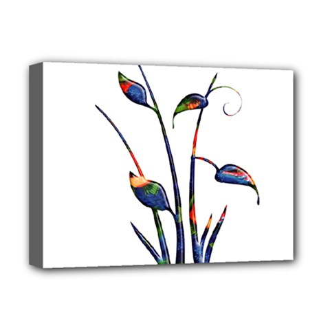 Flora Abstract Scrolls Batik Design Deluxe Canvas 16  X 12   by Nexatart