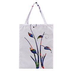 Flora Abstract Scrolls Batik Design Classic Tote Bag by Nexatart