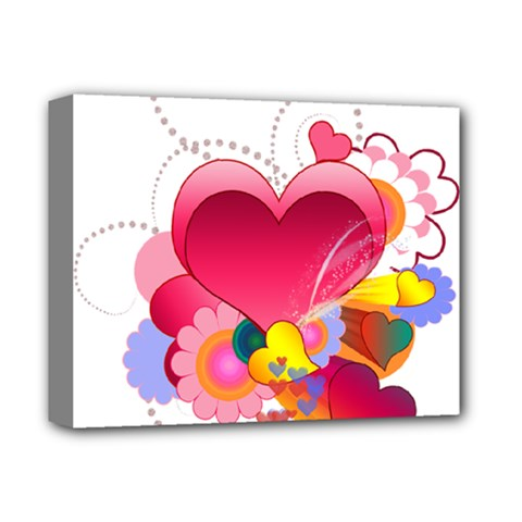 Heart Red Love Valentine S Day Deluxe Canvas 14  X 11  by Nexatart