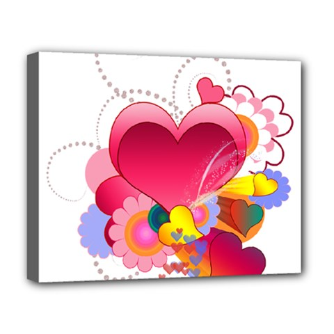 Heart Red Love Valentine S Day Deluxe Canvas 20  X 16