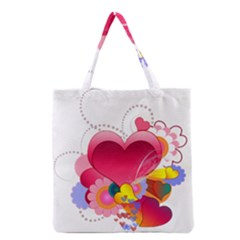 Heart Red Love Valentine S Day Grocery Tote Bag by Nexatart