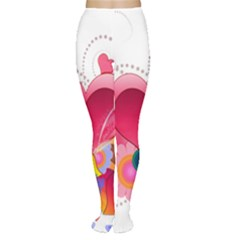 Heart Red Love Valentine S Day Women s Tights