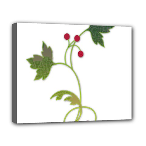 Element Tag Green Nature Deluxe Canvas 20  X 16   by Nexatart