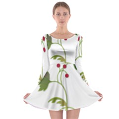 Element Tag Green Nature Long Sleeve Skater Dress