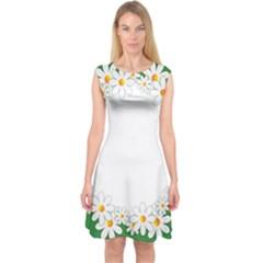 Photo Frame Love Holiday Capsleeve Midi Dress