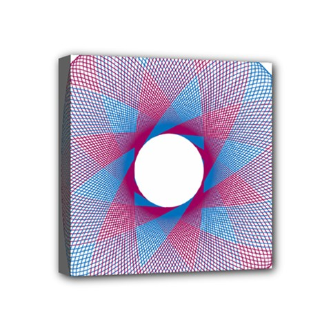 Spirograph Pattern Drawing Design Mini Canvas 4  X 4  by Nexatart