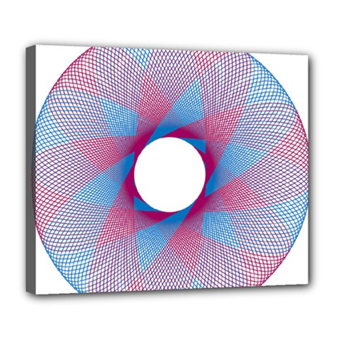 Spirograph Pattern Drawing Design Deluxe Canvas 24  X 20   by Nexatart