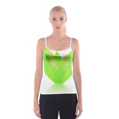 Leaves Green Nature Reflection Spaghetti Strap Top