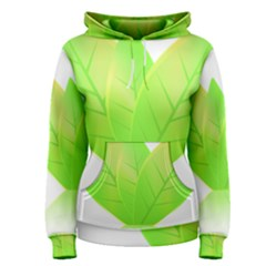 Leaves Green Nature Reflection Women s Pullover Hoodie