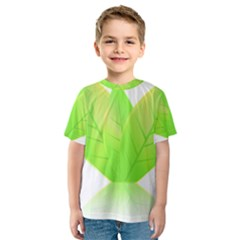 Leaves Green Nature Reflection Kids  Sport Mesh Tee