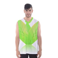 Leaves Green Nature Reflection Men s Basketball Tank Top