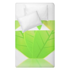 Leaves Green Nature Reflection Duvet Cover Double Side (single Size) by Nexatart