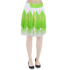 Leaves Green Nature Reflection Pleated Skirt by Nexatart