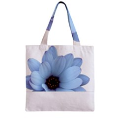 Daisy Flower Floral Plant Summer Zipper Grocery Tote Bag by Nexatart