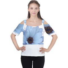 Daisy Flower Floral Plant Summer Women s Cutout Shoulder Tee