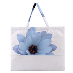 Daisy Flower Floral Plant Summer Zipper Large Tote Bag by Nexatart