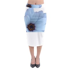 Daisy Flower Floral Plant Summer Midi Pencil Skirt by Nexatart
