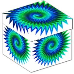 Star 3d Gradient Blue Green Storage Stool 12   by Nexatart