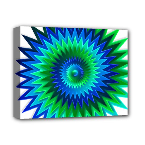 Star 3d Gradient Blue Green Deluxe Canvas 14  X 11  by Nexatart