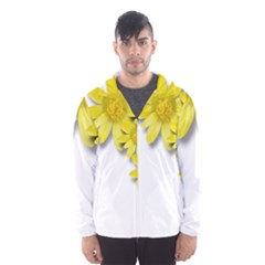 Flowers Spring Yellow Spring Onion Hooded Wind Breaker (men)