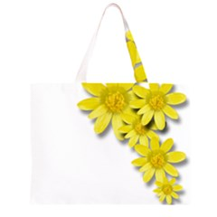Flowers Spring Yellow Spring Onion Zipper Large Tote Bag by Nexatart