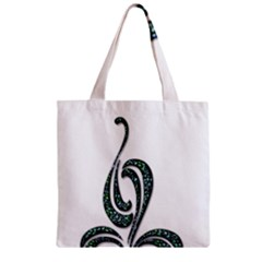 Scroll Retro Design Texture Zipper Grocery Tote Bag by Nexatart