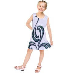 Scroll Retro Design Texture Kids  Tunic Dress