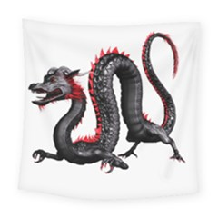 Dragon Black Red China Asian 3d Square Tapestry (large) by Nexatart