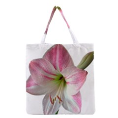Flower Blossom Bloom Amaryllis Grocery Tote Bag